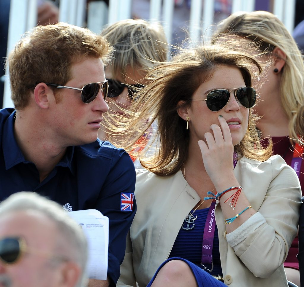 Prince Harry and Princess Eugenie watching Eventing Cross Country Equestrian event together