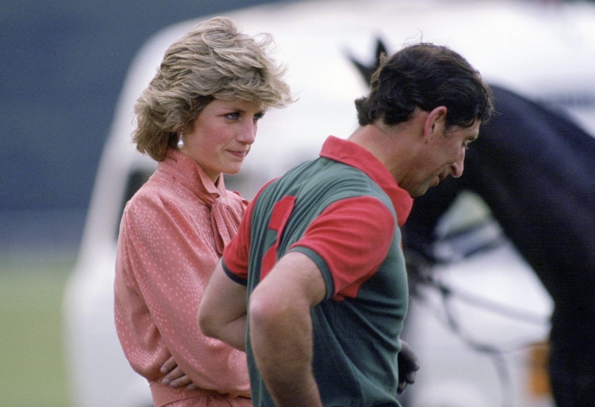 Princess Diana and Prince Charles looking upset while at Smith's Lawn Polo Club