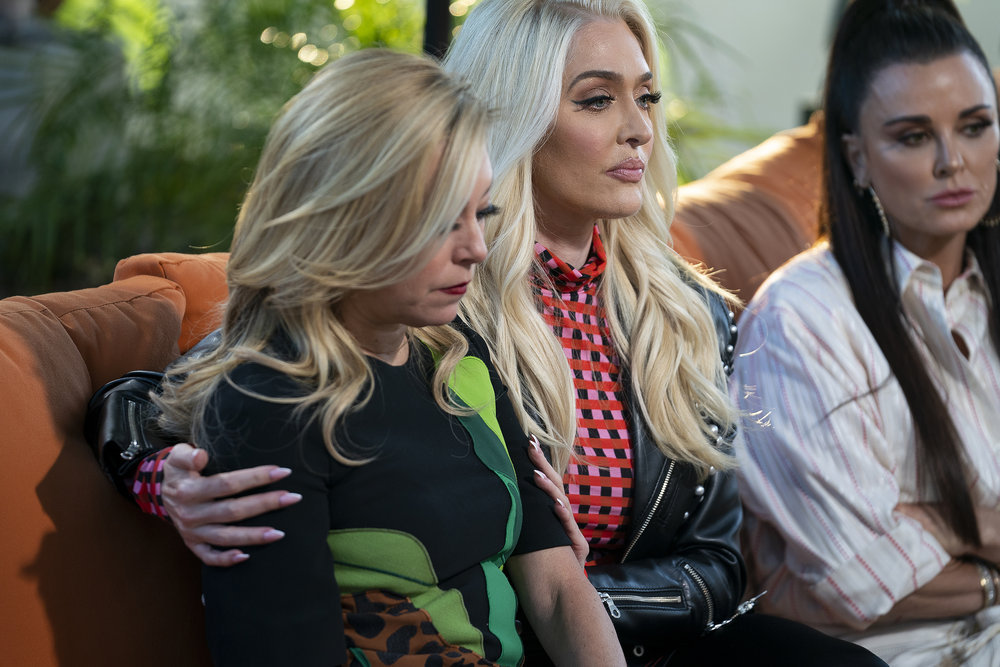 Sutton Stracke, Erika Girardi, and Kyle Richards from The Real Housewives of Beverly Hills