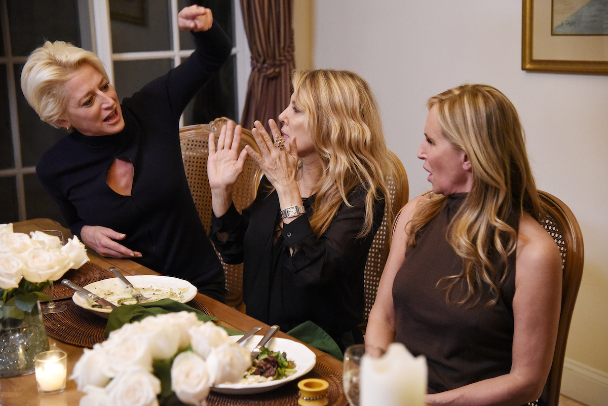 Dorinda Medley, Ramona Singer, Sonja Morgan from The Real Housewives of New York City at the party that Candace Bushnell attended