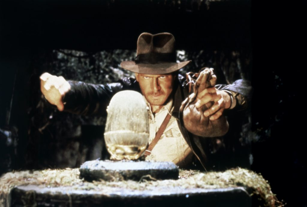 Harrison Ford in 'Raiders of the Lost Ark' in a cave