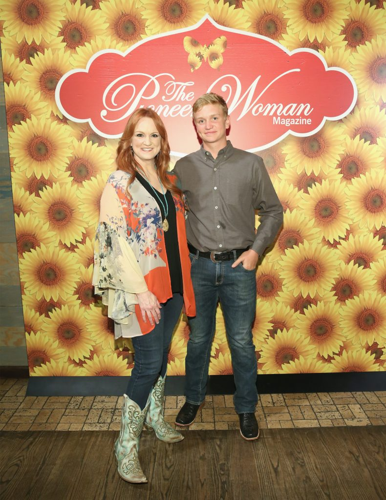 Ree Drummond and son Bryce pose for The Pioneer Woman Magazine in 2017