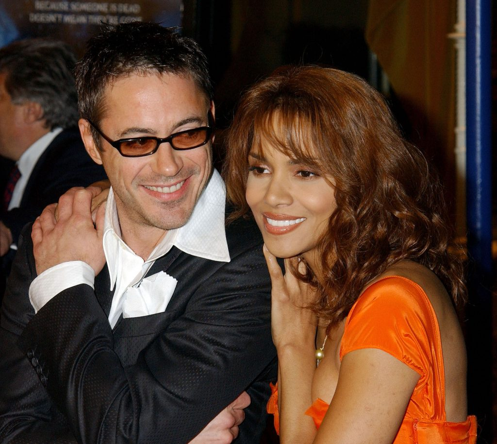 """Robert Downey Jr. and Halle Berry during """"Gothika"""" Premiere"""