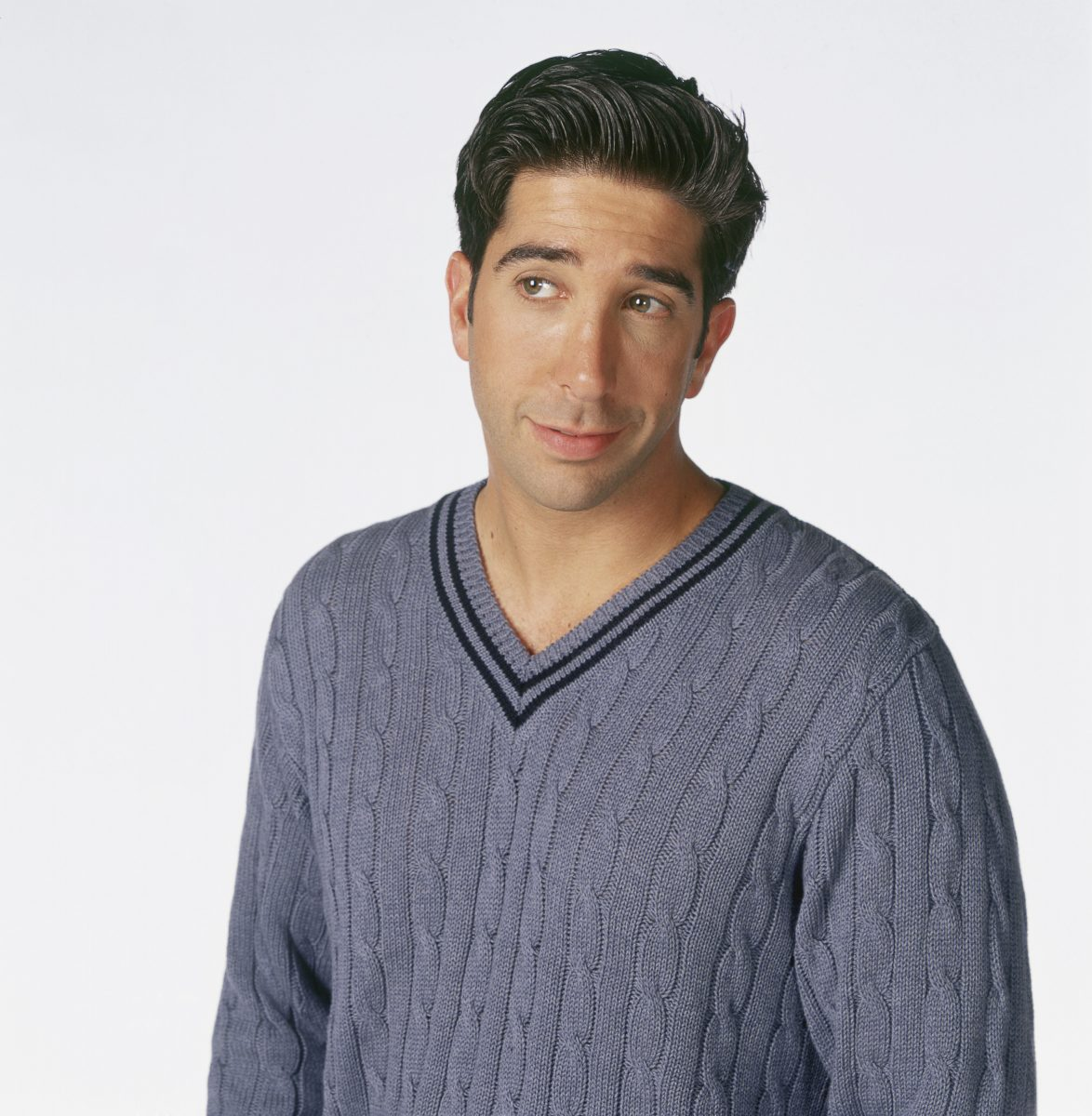 David Schwimmmer as Ross Geller poses for a promotional photo during 'Friends'