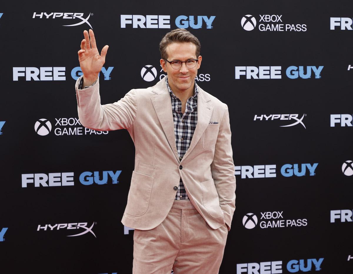 Ryan Reynolds Makes Waves In A Beige Suit