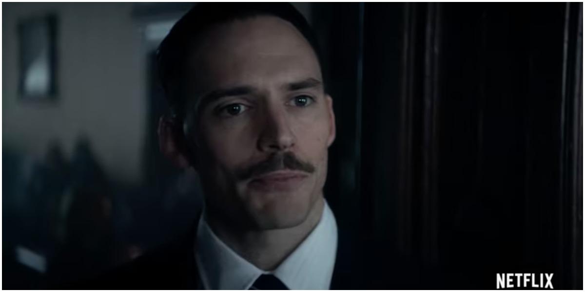 Sam Claflin as Oswald Mosley in season 5 of 'Peaky Blinders'
