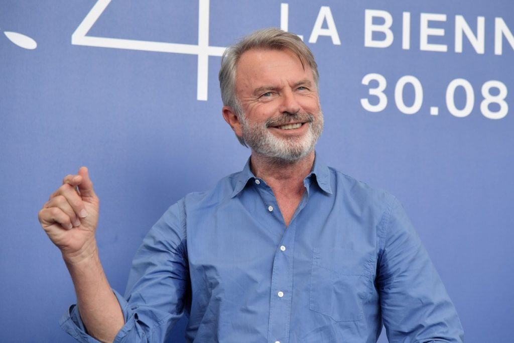 Actor Sam Neill at a press junket for his film 'Sweet Country' at the 2017 Venice Film Festival