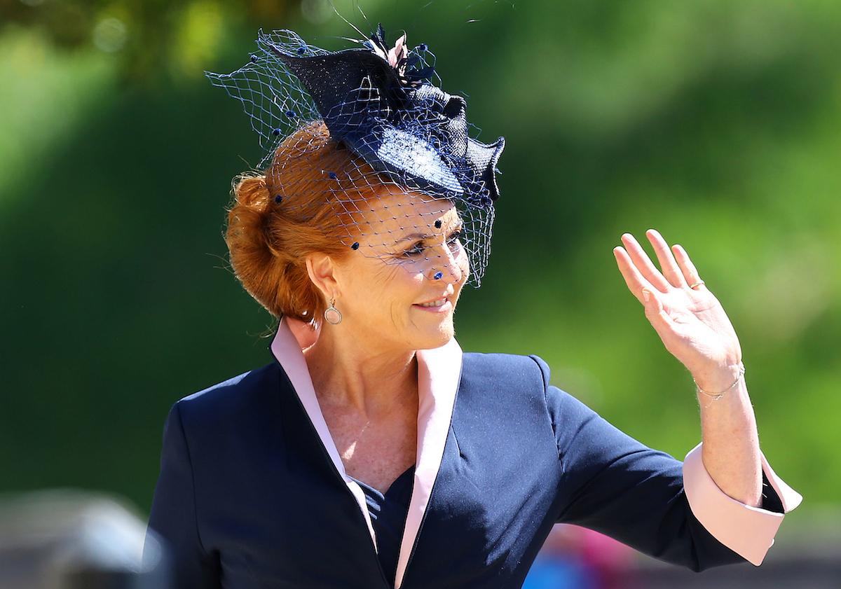 Sarah Duchess of York in blue hat