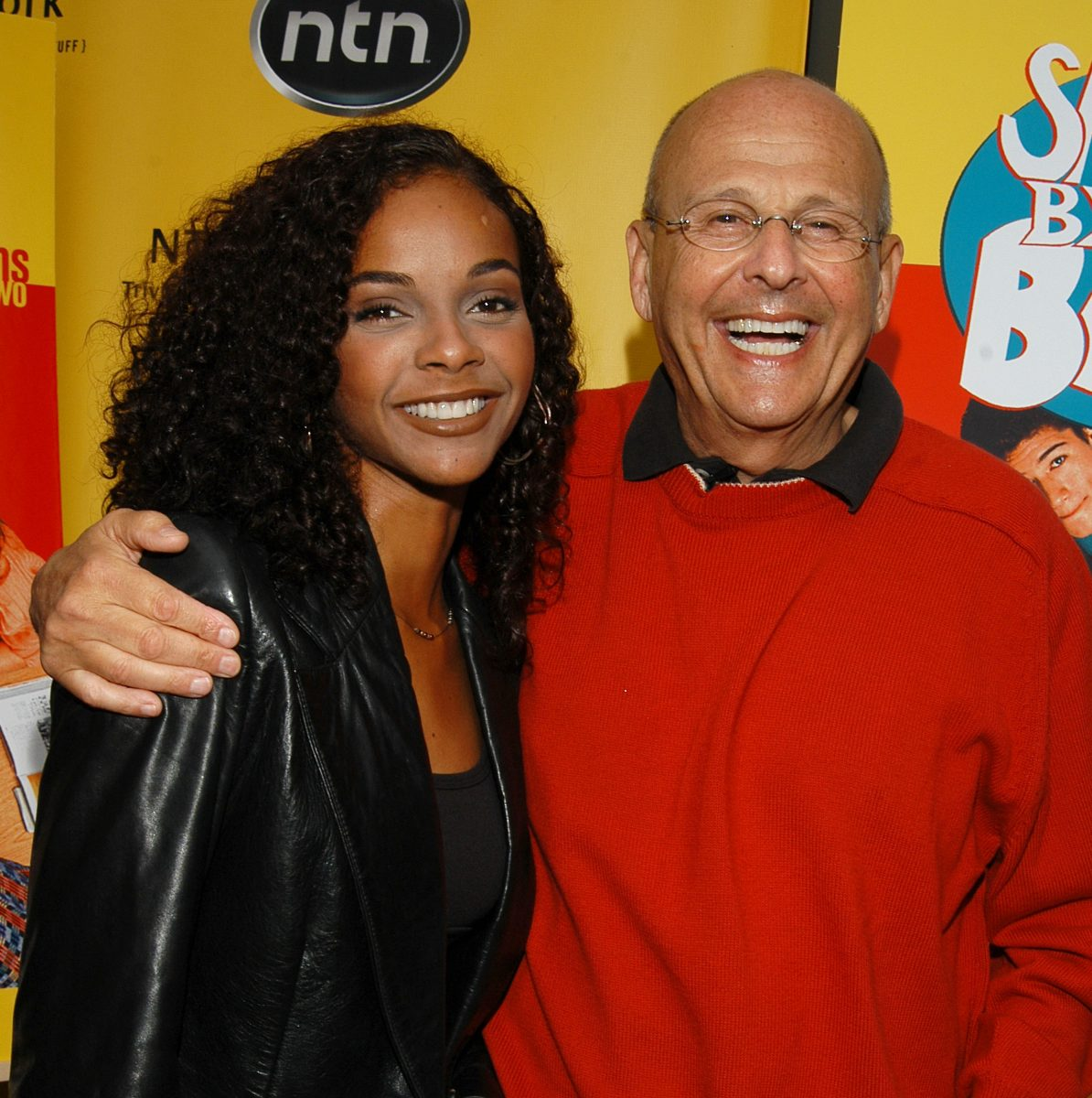 Lark Voorhies (Lisa Turtle) and televison producer, Peter Engel pose for a photo at the 'Saved by the Bell' Season 1 and Season 2 DVD release event