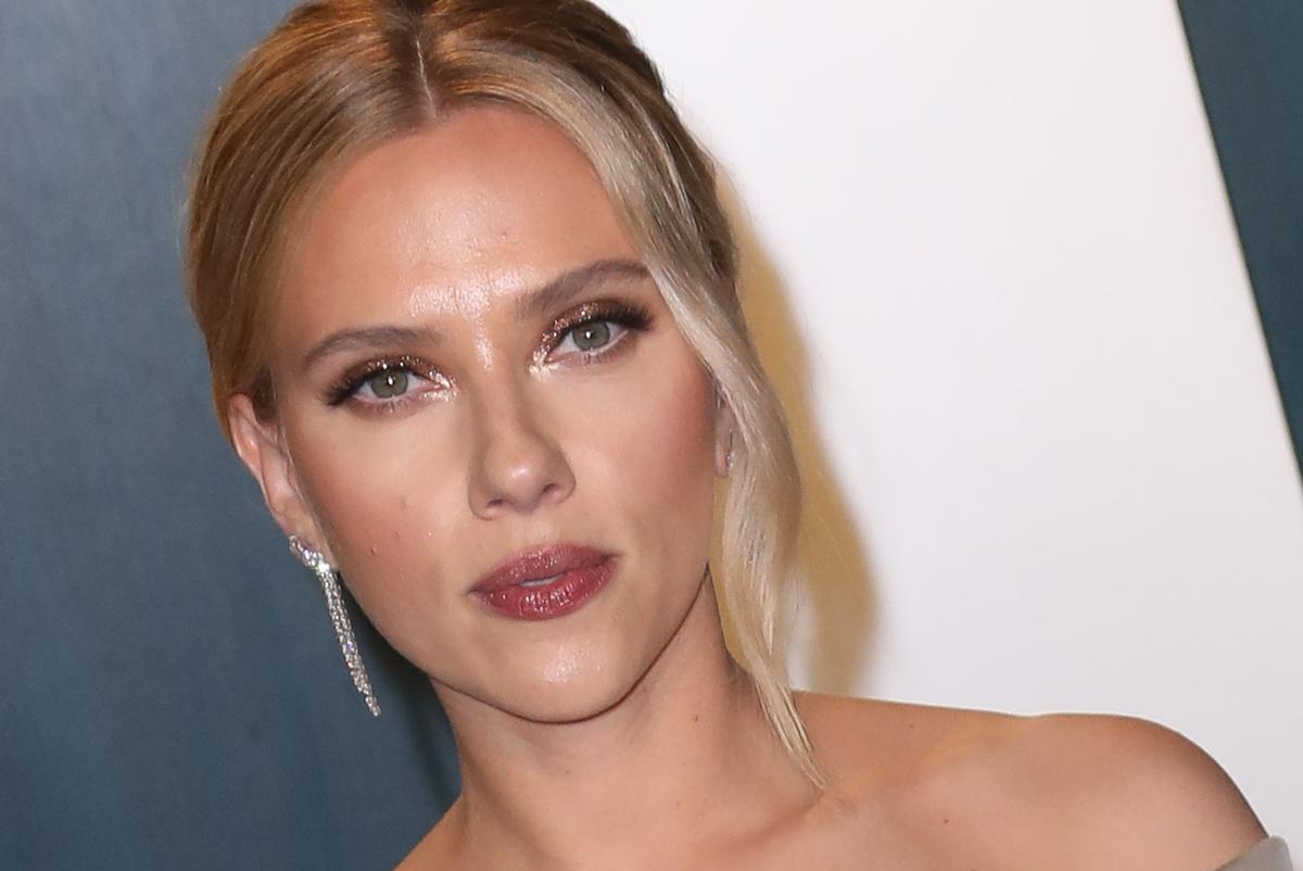 Scarlett Johansson with hair up