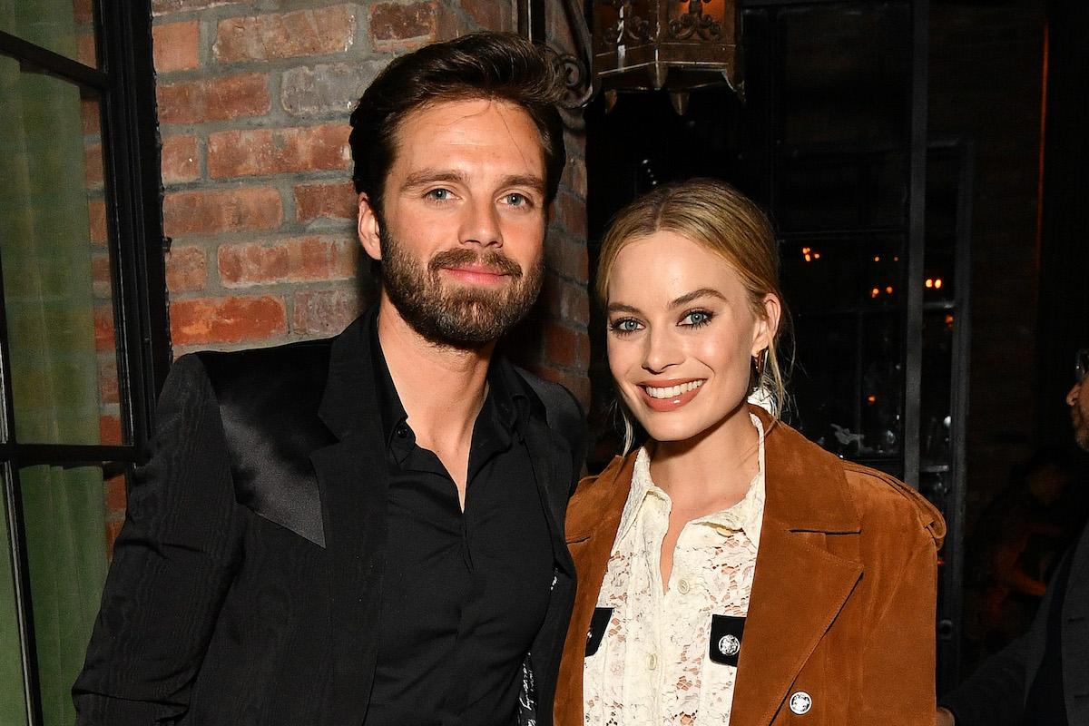 Sebastian Stan and Margot Robbie pose at the 'I, Tonya' after pary