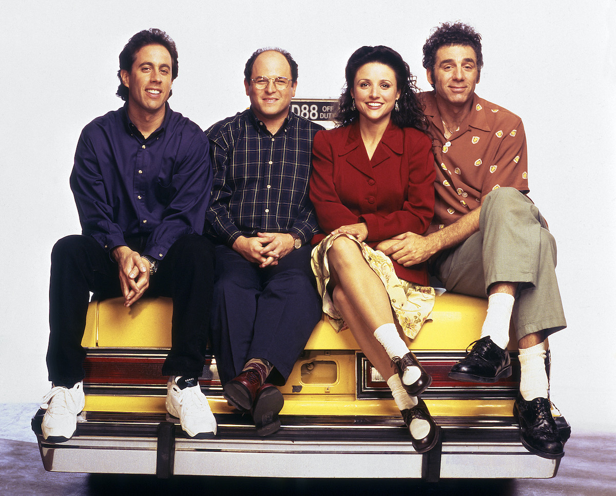 Seinfeld cast poses for a photo shoot