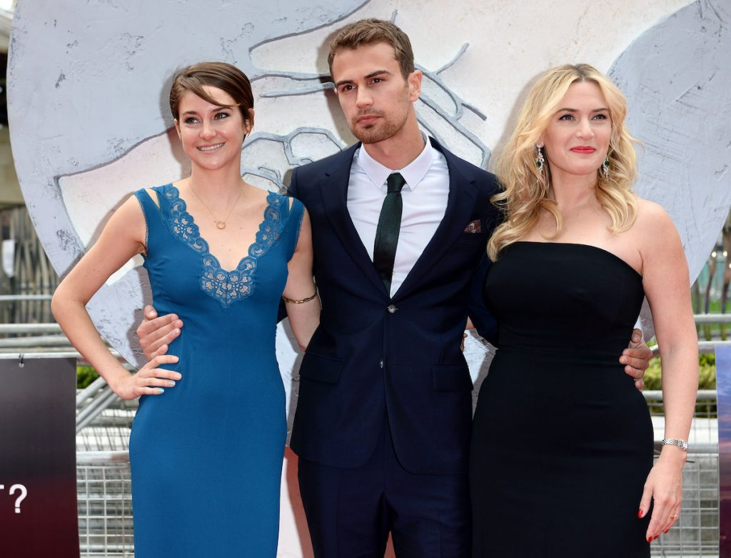 Divergent cast: Shailene Woodley, Theo James, and Kate Winslet