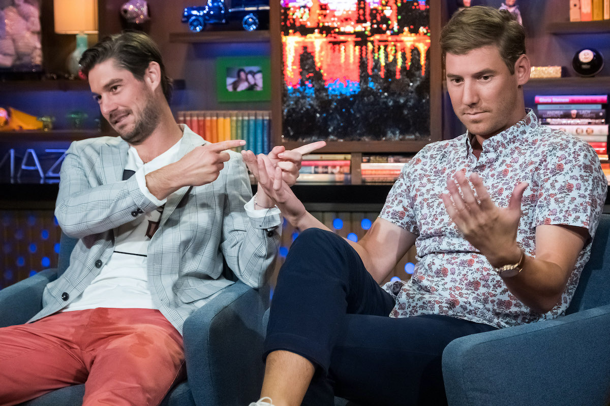 Craig Conover and Austen Kroll from Southern Charm on WWHL