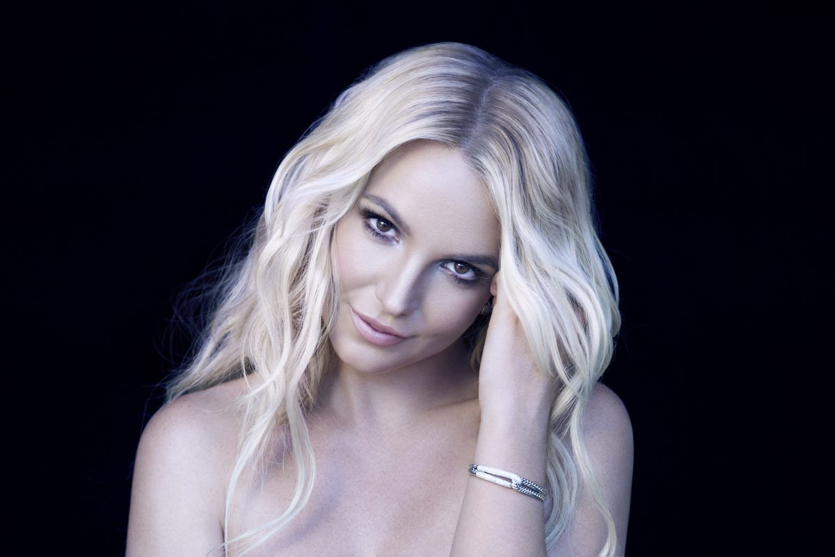 Britney Spears smiling for 'I am Britney Jean'