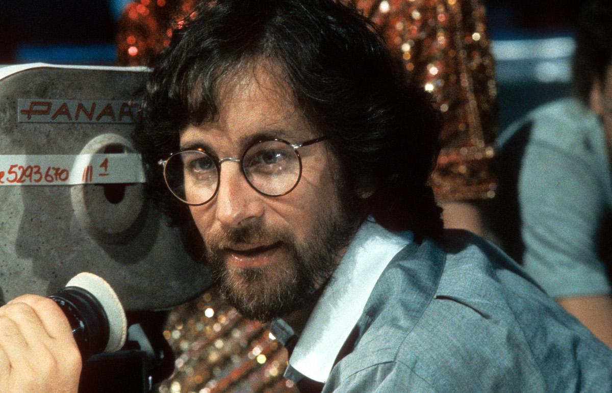 Steven Spielberg directs a scene