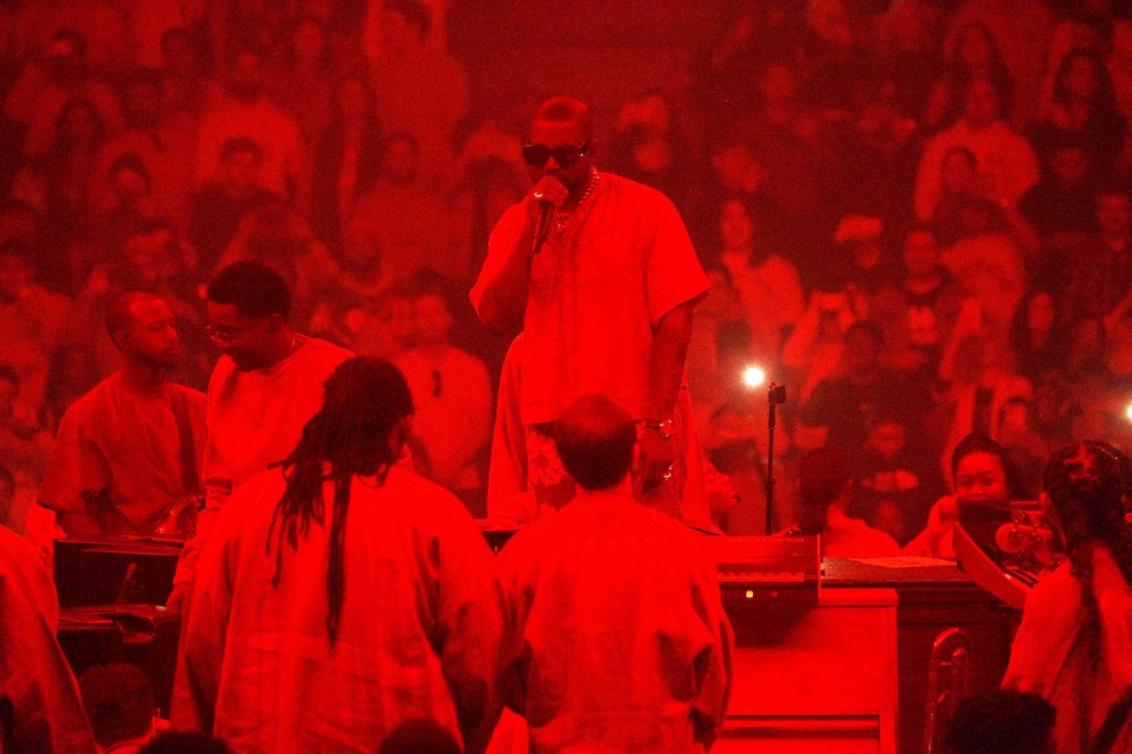 Kanye West Presents Sunday Service at Credit Union 1 Arena on February 16, 2020 in Chicago, Illinois.