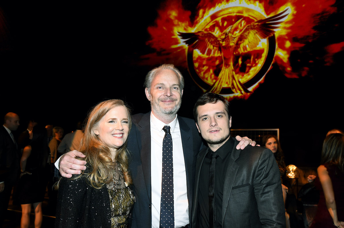 Suzanne Collins, Francis Lawrence and Josh Hutcherson attend the premiere of The Hunger Games: Mockingjay Part 1
