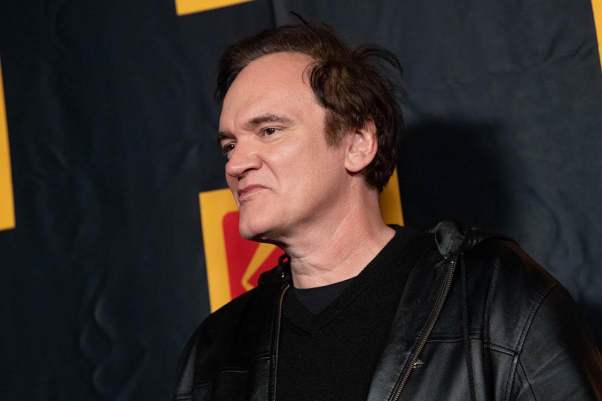 Quentin Tarantino wearing black