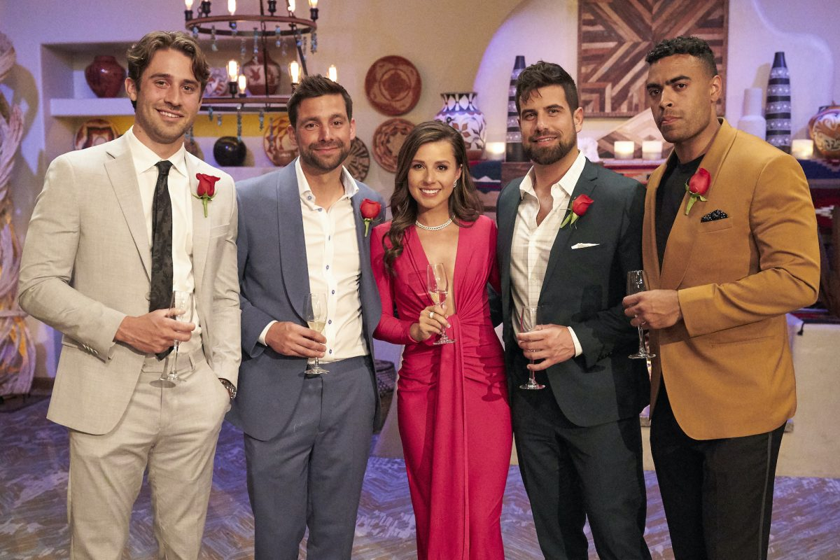 GREG GRIPPO, MICHAEL A., KATIE THURSTON, BLAKE MOYNES, and JUSTIN GLAZE from 'The Bachelorette'