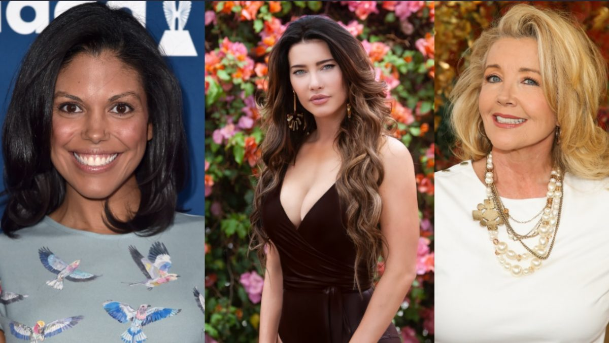 The Bold and the Beautiful odds and ends roundup features Karla Mosley, Jacqueline Macinnes Wood, and Melody Thomas Scott, all pictured here