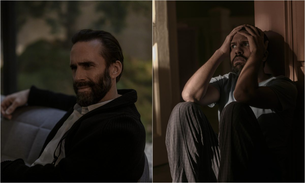 A joined photo of Joseph Fiennes and O-T Fagbenle in the season 4 finale of 'The Handmaid's Tale'