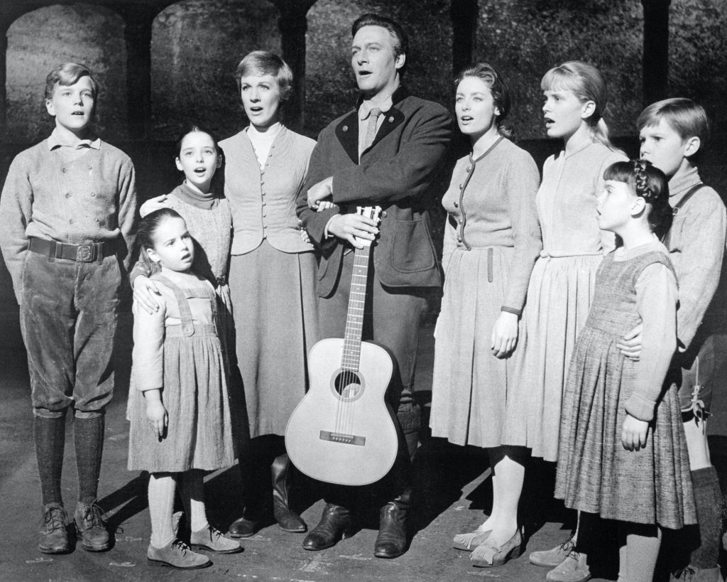 The Von Trapp family from the movie 'The Sound of Music' in a promotional portrait for the film