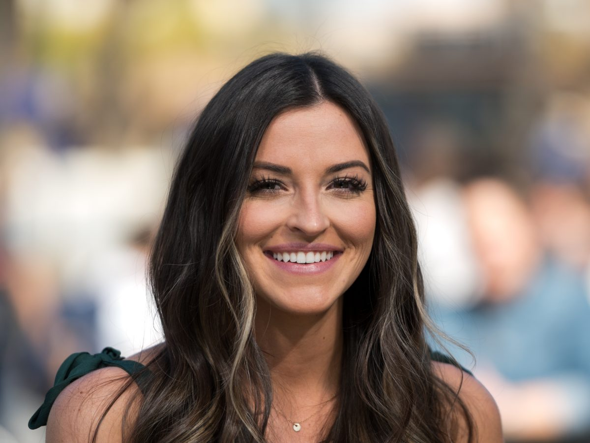 'Bachelor in Paradise' star Tia Booth smiling into the camera