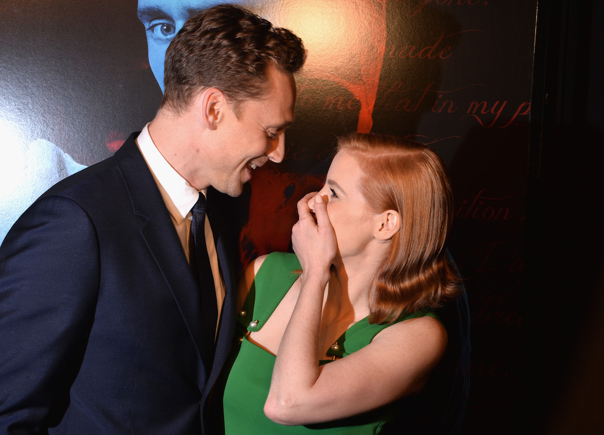 Tom Hiddleston and Jessica Chastain in formalwear