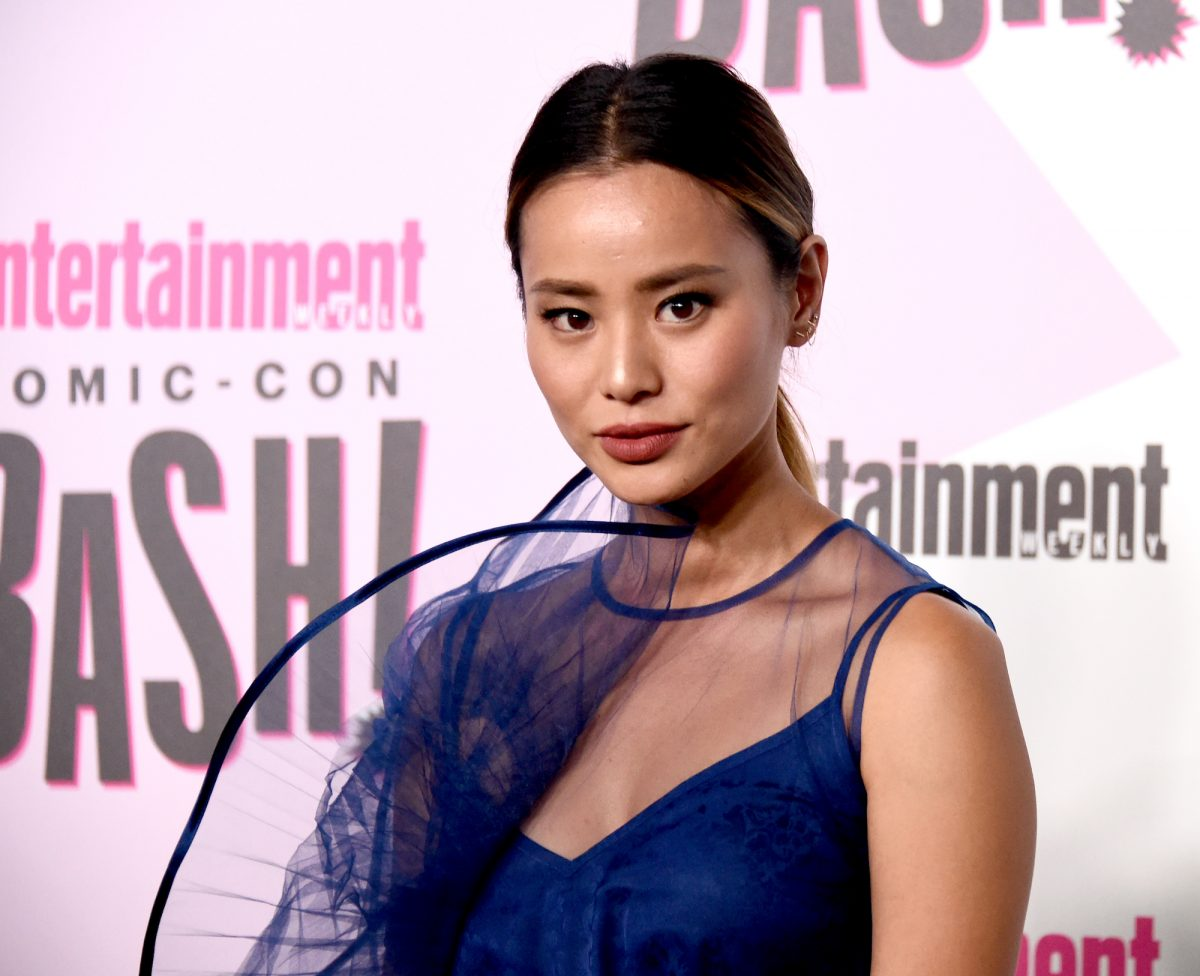True crime podcaster actor Jamie Chung on the EW Comic-Con red carpet