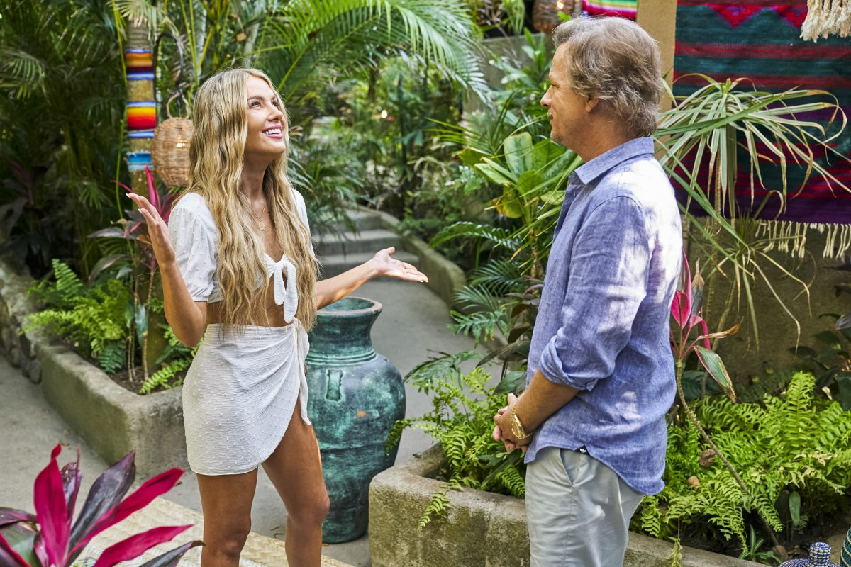 Victoria P. is greeted by David Spade as she arrives on 'Bachelor in Paradise'