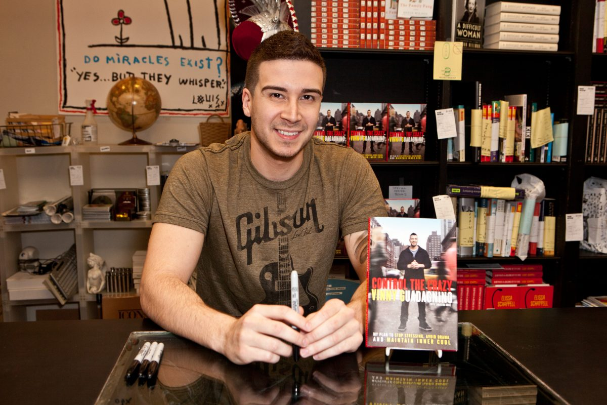 Television personality Vinny Guadagnino signs copies of his new book 'Control the Crazy' in 2012