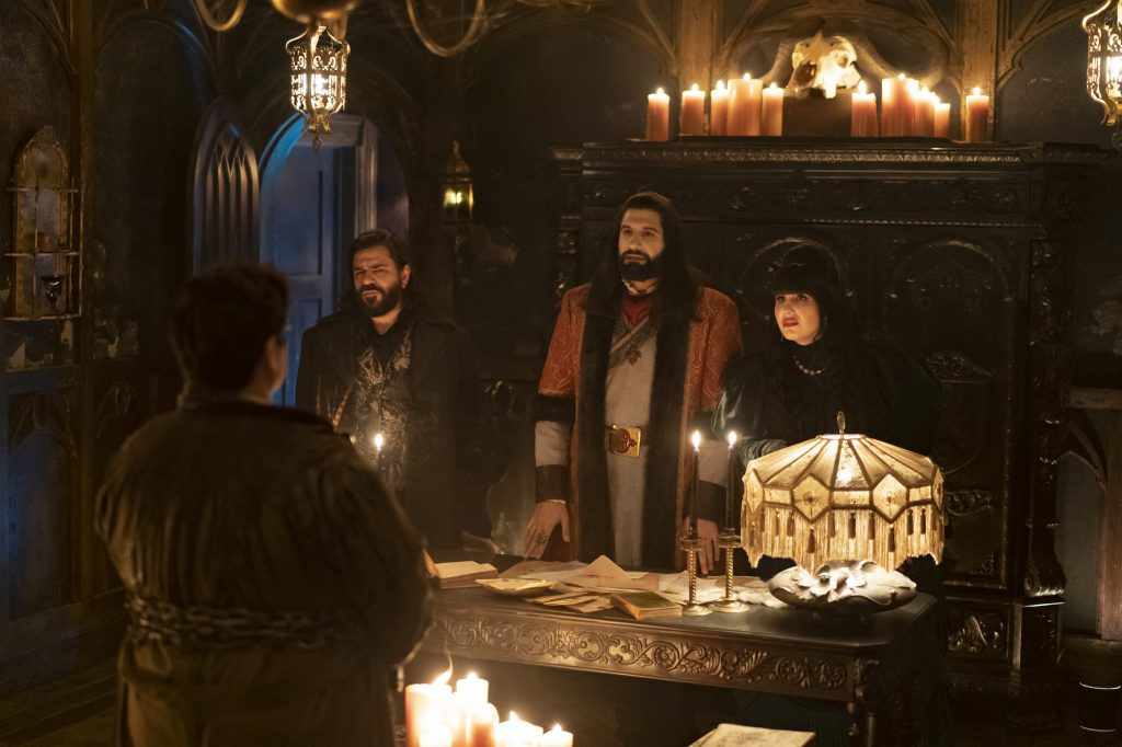 What We Do In the Shadows Season 3 premiere: Laszlo, Nandor, Nadja and Guillermo stand up
