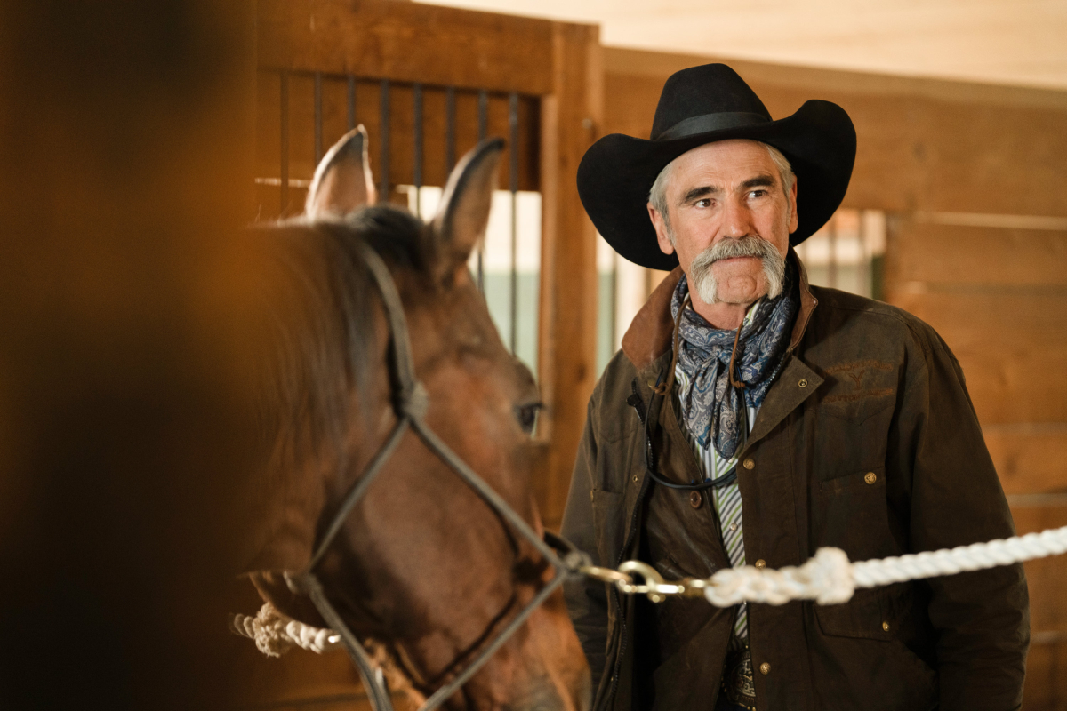 Yellowstone star Forrie J Smith as Lloyd in an image from season 3