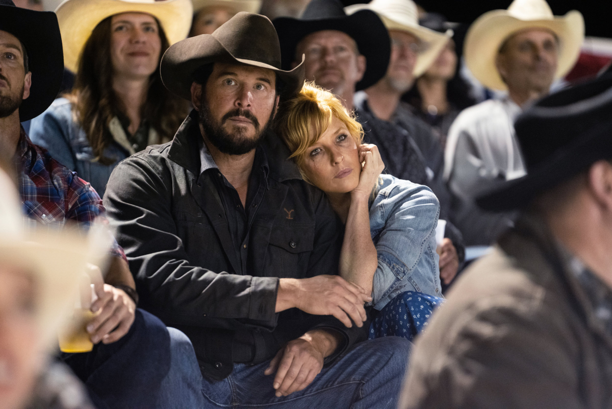 Yellowstone stars Cole Hauser (Rip Wheeler) and Kelly Reilly (Beth Dutton)