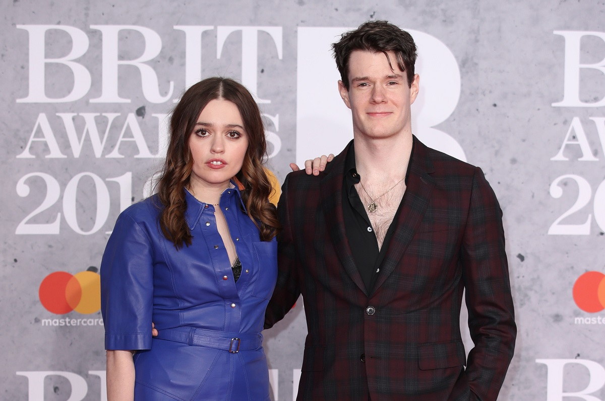 (L-R): Aimee Lou Wood and Connor Swindells attend The BRIT Awards on February 20, 2019, in London, England.