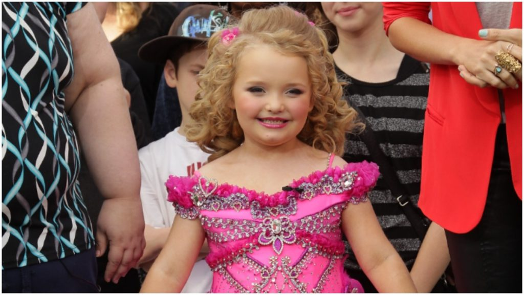 Alana Thompson in a vintage photo from Toddlers and Tiaras.
