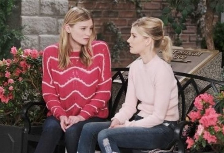 Days of Our lives spoilers featuring Allie and Claire - pictured here