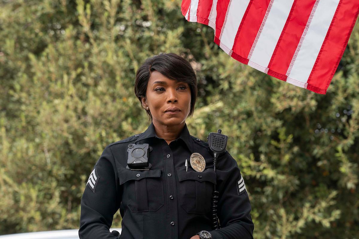 Angela Bassett, wearing a police uniform, as Athena Grant-Nash in '9-1-1'