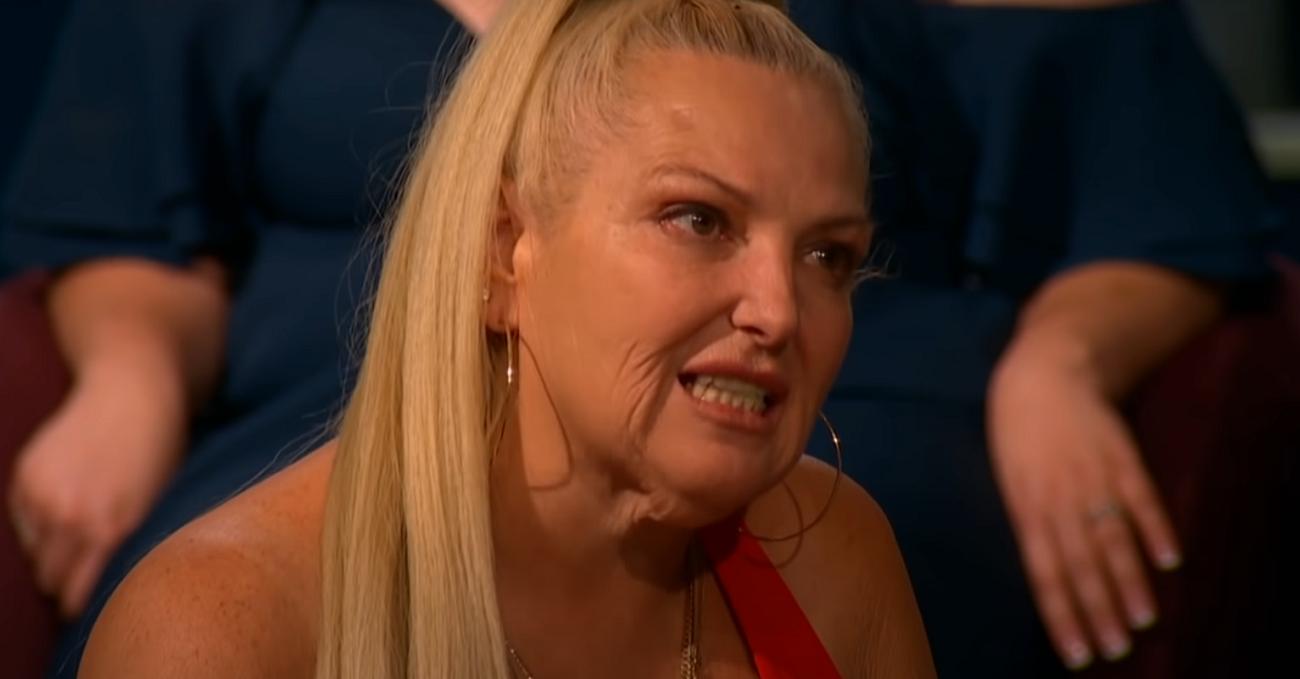 Angela Deem at the '90 Day Fiancé' Tell All, yelling at Michael Ilesanmi