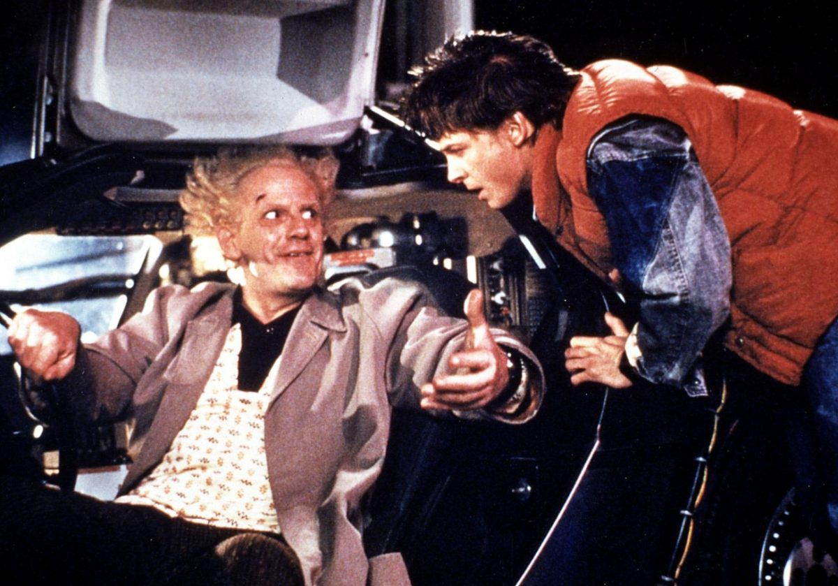 'Back to the Future' with Michael J. Fox as Marty McFly and Christopher Lloyd as Doc