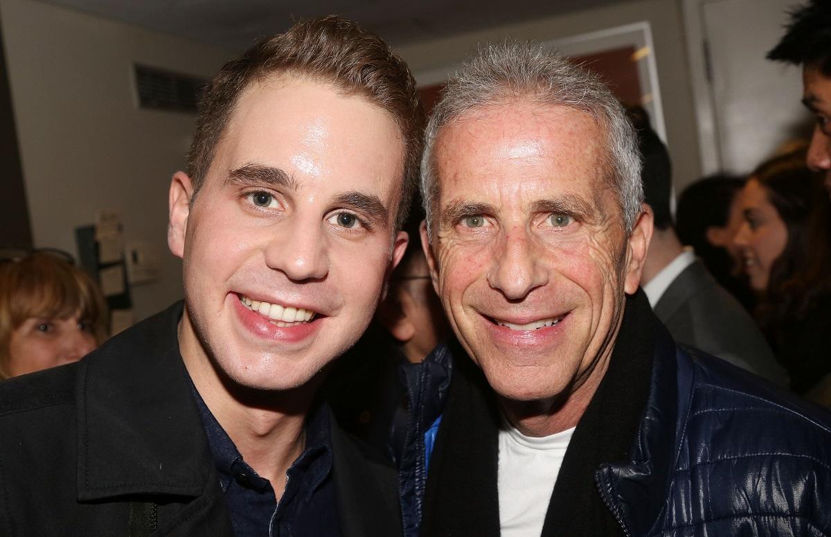 (L-R): Ben Platt and Marc Platt on February 21, 2016, in New York City.