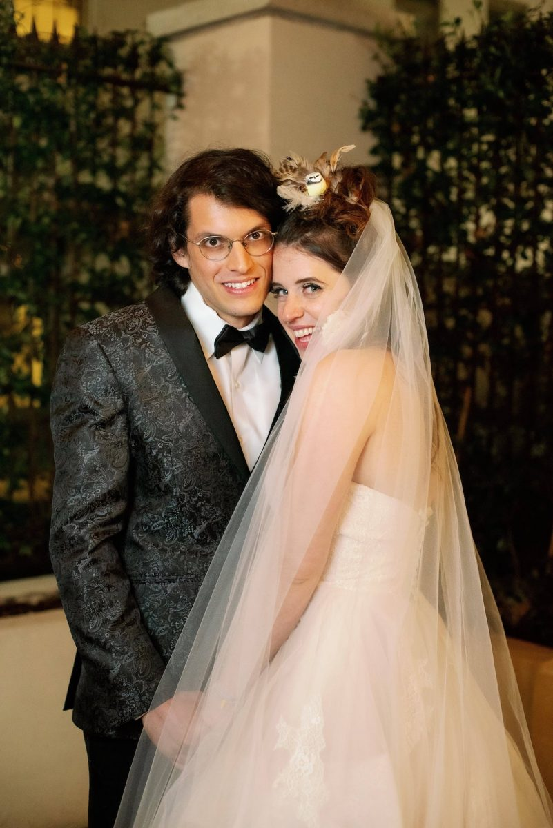 Bennett and Amelia's wedding portrait from 'Married at First Sight' Season 11