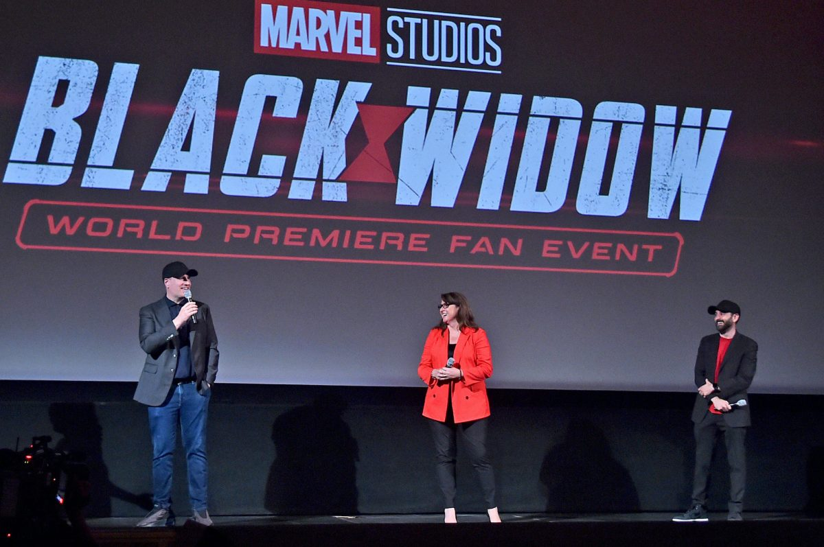 Kevin Feige, Victoria Alonso, and Brad Winderbaum