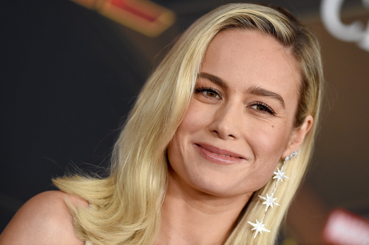 Brie Larson attends Marvel Studios 'Captain Marvel' Premiere on March 04, 2019, in Hollywood, California.