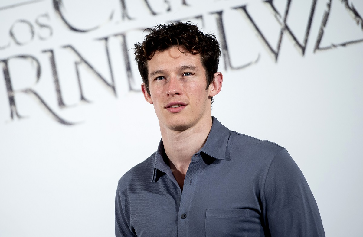 Callum Turner attends the 'Fantastic Beasts: The Crimes of Grindelwald' premiere on November 16, 2018, in Madrid, Spain.