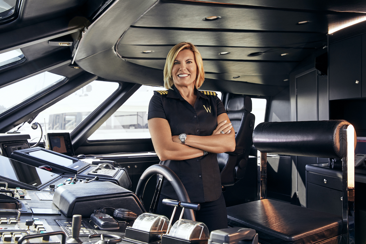 Below Deck Mediterranean Season 5 cast photo of Captain Sandy Yawn