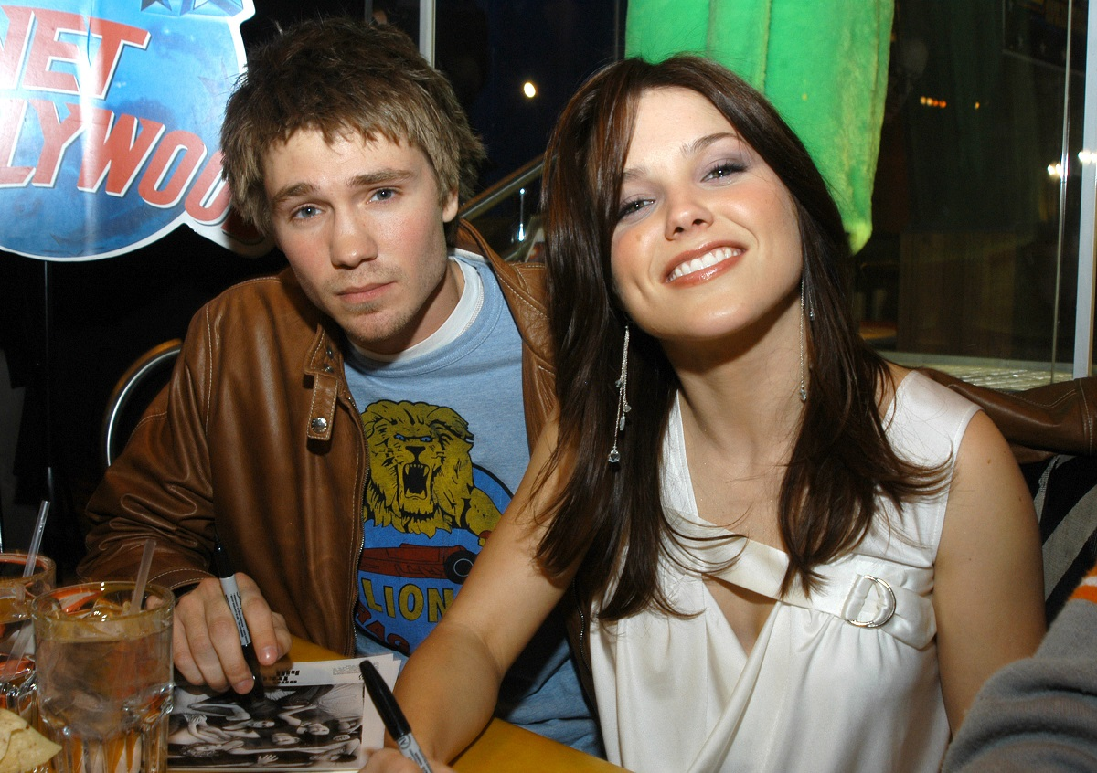 Chad Michael Murray and Sophia Bush during Gavin DeGraw and The Cast of One Tree Hill Make Appearance at Planet Hollywood Times Square at Planet Hollywood in New York City, NY, United States.