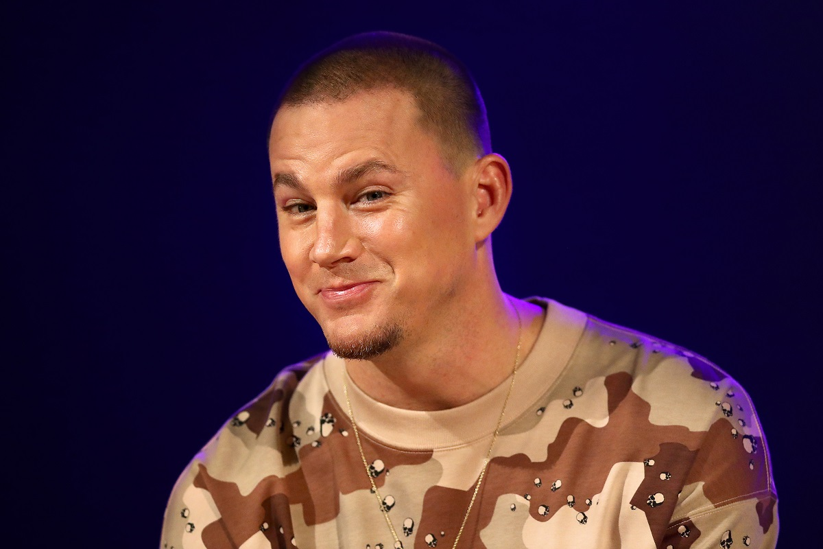 Channing Tatum reacts during a media call on December 03, 2019, in Melbourne, Australia.