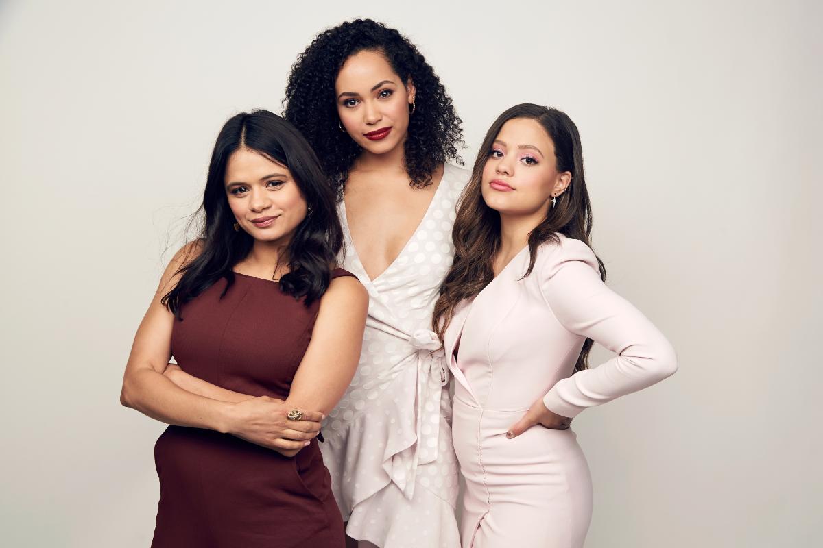 'Charmed' cast Melonie Diaz, Sarah Jeffery, and Madeleine Mantock